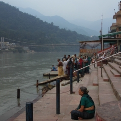 Evening puja, Rishikesh