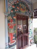 Painted doorway, Hotel Ganges View, Varanasi