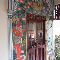 Painted doorway, Hotel Ganges View, Varanasi